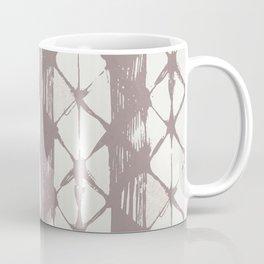 Simply Braided Chevron Red Earth on Lunar Gray Coffee Mug