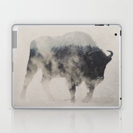 Bison In The Fog Laptop & iPad Skin