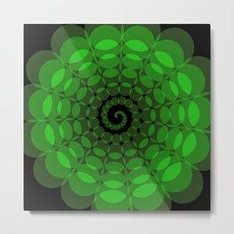 complex green spiral Metal Print
