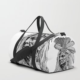 Chief / Vintage illustration redrawn and repurposed Duffle Bag