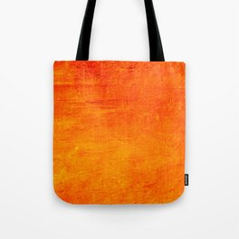 Orange Sunset Textured Acrylic Painting Tote Bag