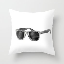 B&W Raybans - Drawing Throw Pillow