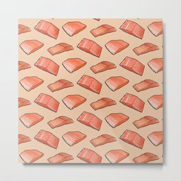 Fish Seafood Feast, Salmon edition on Peach Metal Print