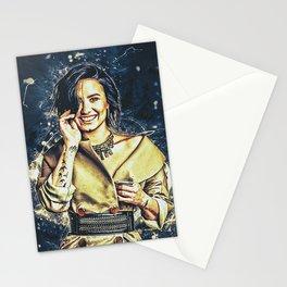 Demilovato White Neon Lig Stationery Cards