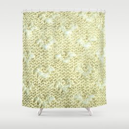 Lace knitting detail Shower Curtain
