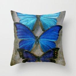 Sapphire Butterfly Throw Pillow