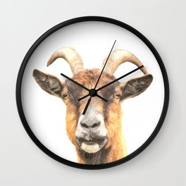 Goat Portrait Wall Clock