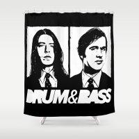 nirvana Shower Curtains featuring Nirvana DNB by Grym Life