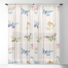 Beautiful Butterflies Sheer Curtain