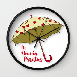 In Omnia Paratus - Umbrella Design Wall Clock