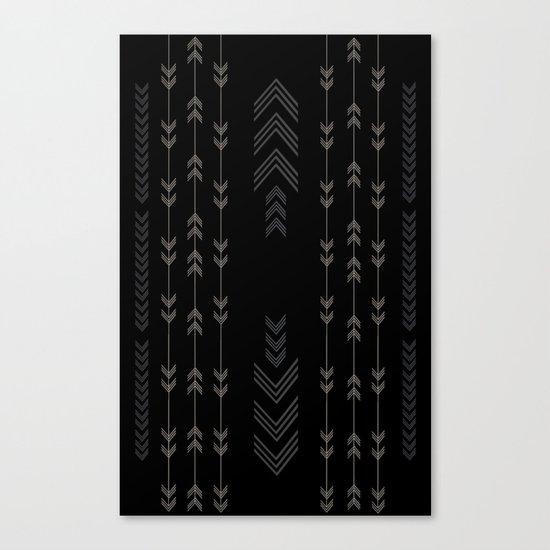 Headlands Arrows Black Canvas Print