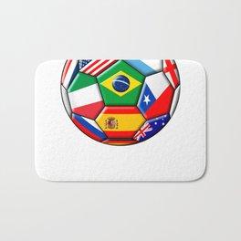 Brazil 2014 - soccer with various flags Bath Mat