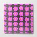 Tiny pink retro flowers on a dark grey background - #Society6 #buyart by pivivikstrm