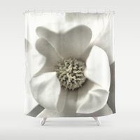 classy Shower Curtains featuring Classy Magnolia by ThePhotoGuyDarren
