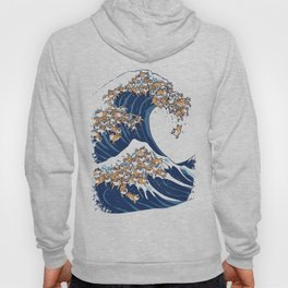 The Great Wave of Shiba Inu Hoody