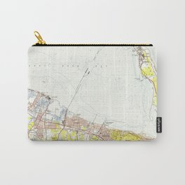 Vintage Map of Sandy Hook NJ (1954) Carry-All Pouch