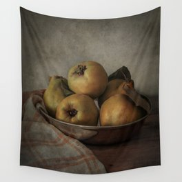 Bowl of fresh quinces Wall Tapestry