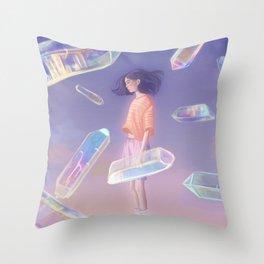 3D quartz Throw Pillow