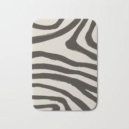 Painted Zebra Bath Mat