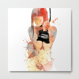 Shibari - Japanese BDSM Art Painting #5 Metal Print