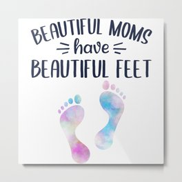 Foot Care Pedicure Podiatrist Nail Salon Gift Metal Print