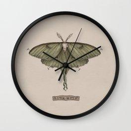 Luna Moth Wall Clock
