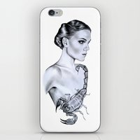 scorpio iPhone & iPod Skins featuring Scorpio by Libby Watkins Illustration
