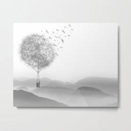 Dandelion Sketch Metal Print