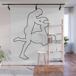 Bent in Half Wall Mural