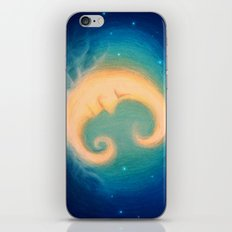 Sleepy Moon iPhone & iPod Skin