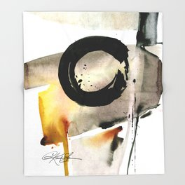 Enso Abstraction No. 105 by Kathy morton Stanion Throw Blanket