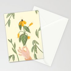 Flower in a hand Stationery Cards