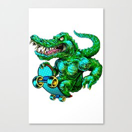Green roller Canvas Print