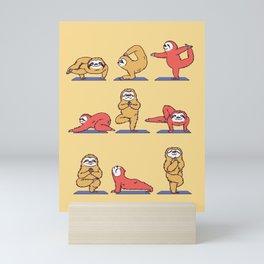 Sloth Yoga Mini Art Print