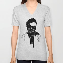 Art is a lie that makes us realize truth. Unisex V-Neck