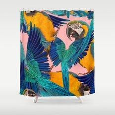 Ara Parrot Shower Curtain