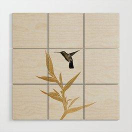 Hummingbird & Flower II Wood Wall Art
