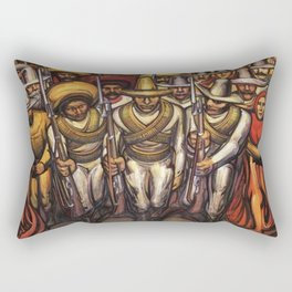 From the Dictatorship of Porfirio Díaz to the Revolution, The People in Arms by David Siqueiros Rectangular Pillow