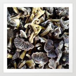 Chopped mushrooms - Forest harvest Art Print
