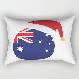 Australia Christmas sant claus flag designs  Rectangular Pillow