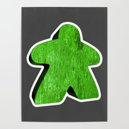 Giant Green Meeple Poster
