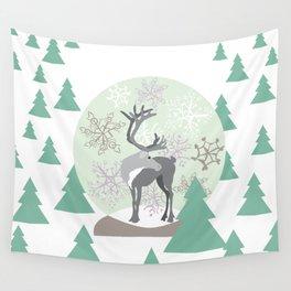 Reindeer Snowglobe Wall Tapestry