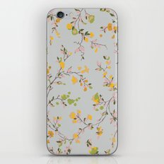 vintage floral vines - spring colors iPhone & iPod Skin