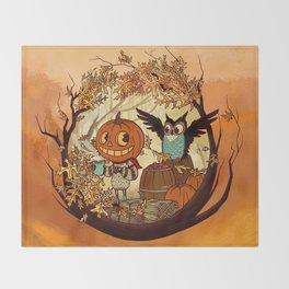 Fall Folklore Throw Blanket