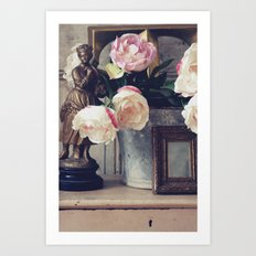 Flower & Bucket Art Print