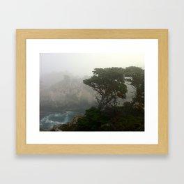 Ocean front in Carmel, CA Framed Art Print