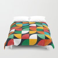 pie Duvet Covers featuring Pie in the sky by Picomodi