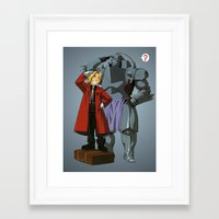 full metal alchemist Framed Art Prints featuring Alchemist of Steel by CromMorc