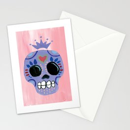 Queen Sugar Skull_Lavender Stationery Cards