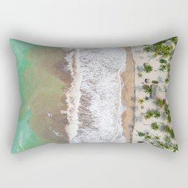Caribbean beach Rectangular Pillow